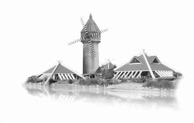 海港大桥 简笔画素描